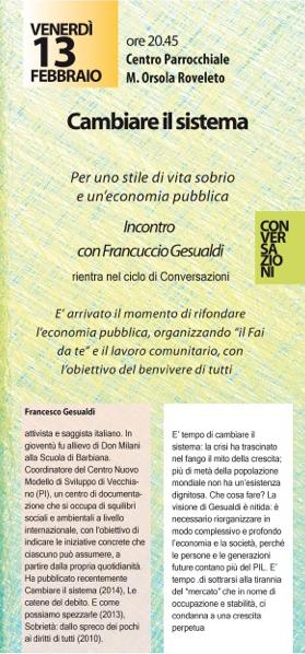 CONVERSAZIONI 2015 FRANCUCCIO GESUALDI